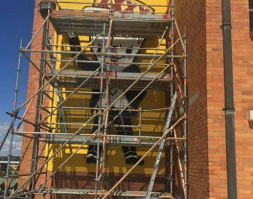 Scaffolding for Maintenance at xxxx Brewery