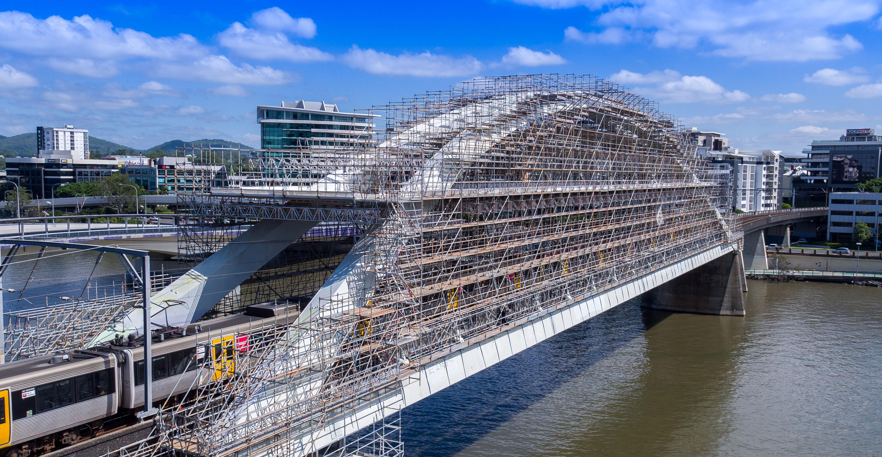 QR Merivale Bridge Scaffolding